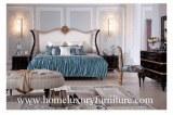 Le lit classique de chambre à coucher de meubles de chambres à coucher de Kingbed de li...