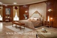 Enfoncez le lit antique FB-138 en bois solide de Kingbed de meubles de chambre à couche...