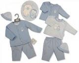 Matelassé 3 pcs ensemble bébé garçon avec bonnet - Ours Polaire