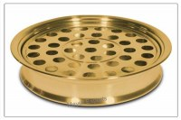 Stainless Steel Communion Tray Brass Finish