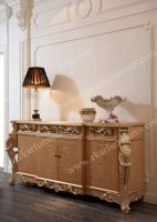 4 cubby Italian furniture wood Carved Giltwood curio cabinet