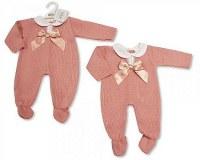 Barboteuse tricoté longues pour bébés filles