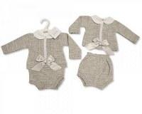 2 pcs ensemble tricoté pour bébés filles