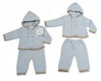 2 pcs ensemble tricoté avec capuchon pour bébés garçons