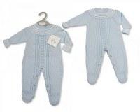 Longue barboteuse tricoté pour bébés garçons