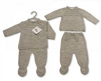 2 pcs ensemble tricoté bébé