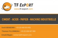 Importation CIMENT - FER - PAPIER - MACHINE INDUSTRIELLE