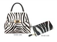 Mode Zebra-bande Sac à dos et portefeuille