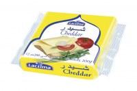 Tranches de fromage cheddar Lactima transformées