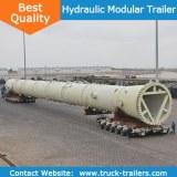 Hydraulic suspension Goldhofer multi axle hydraulic lifting trailer