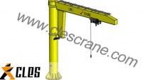 CJZ Series Pillar Mounted Slewing Jib Crane