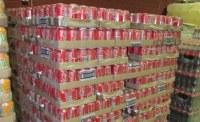 Stock de Coca Cola, Fanta, Sprite, Pepsi, 7UP soft drinks