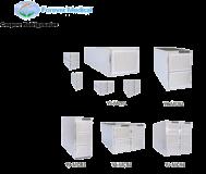 Réfrigérateur de cadavre mortuaire mis à jour avec le congélateur mortuaire morgue de congélation