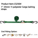 "CS2504 1"" 1inch 1t ratchet strap with custmuzied ring"