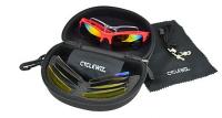 Gants et lunettes pour les cyclistes