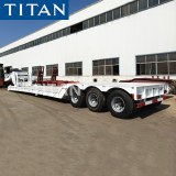 What is a lowboy trailer used for?