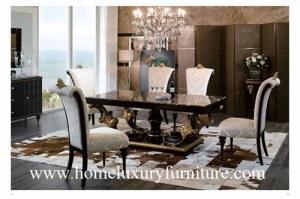 Le style en bois de l'Italie de table de salle à manger de meubles et de meubles de sal...