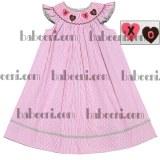 X0 hearts smocked bishop dress - DR 1571