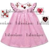 X0 hearts smocked bishop dress - DR 1574