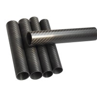 Wholesale Best Price Different size Twill Matte 3K carbon tube Carbon fiber pipe