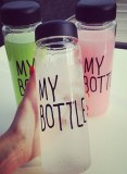 Matériel de tritan 500ml mode sport mes bouteilles d'eau potable bouteille citron jus espace coupe
