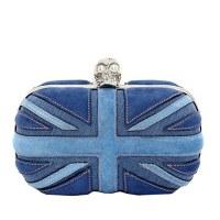 Union Jack Bleu style sac de soirée EV1103