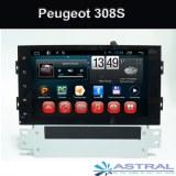 2 Din Quad Core Radio voiture pour Peugeot 308S Lecteur DVD de voiture Navigation GPS...