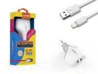 Kit 2 en 1 blanc chargeur secteur 2.1A et câble de chargement pour iPhone, iPad & iPod