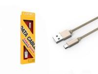 Câble de chargement chrome micro USB