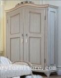 Garde-robe de porte de la garde-robe 2 de chambre à coucher, armoires français en bois solide de...