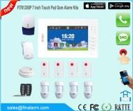 7 pouces de panneau tactile d'alerte GSM HD de programme d'application de système de co...