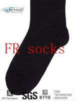 Flame retardant modacrylic sock