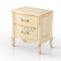 Antique Wood Bedroom Furniture Rococo Nightstand