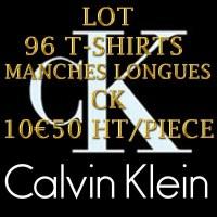 GROSSISTE EN LOT 96 TEE-SHIRTS CALVIN KLEIN JEANS