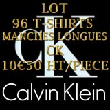 GROSSISTE EN LOT 96 TEE-SHIRTS CALVIN KLEIN JEANS