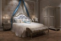Hand carved bed room solid wood