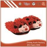 Fuzzy Ladybug Slippers