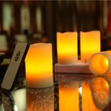 LED rechargeable wax candle set of 4pcs with remote control