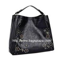 Big Black Fashion Sac Hobo, Métal Fleur Sac à main, HD23-076