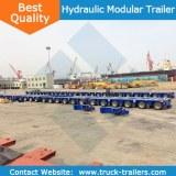 China multi-axle heavy duty hydraulic lifting modular trailer