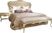 High headboard white fancy design teak wood wooden bed / dubai bunk bed