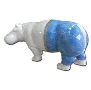 Hippopotame jeans en resine laquee 82x173cm import for Objet decoration hippopotame