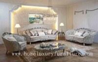 Sofa classique de luxe ensembles de salon réglés de sofa de tissu des prix de sofa de...