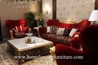 Coin classique réglé de sofa d'ensembles de salon de table basse de sofa de sofa classique nouvea...