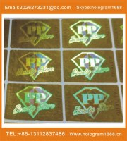 customized hot stamping hologram lable stickers