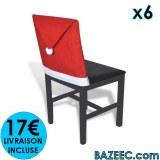 6 Housses pour chaises en forme de père noël LIVRAISON GRATUITE