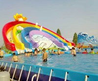 Inflatable water slide, giant outdoor inflatable slide, commercial water slide for kids