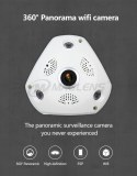 Wifi 2p2 wireless 1.44mm vr fisheye cam 3d panoramic camera