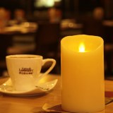 Ivory Wax Flameless Moving Wick LED Candle (HD-WCL-003)