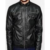 Zip Thru Sheep Leather Jacket USI-8875